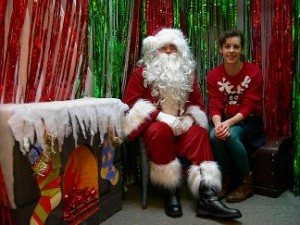 Santa & helper