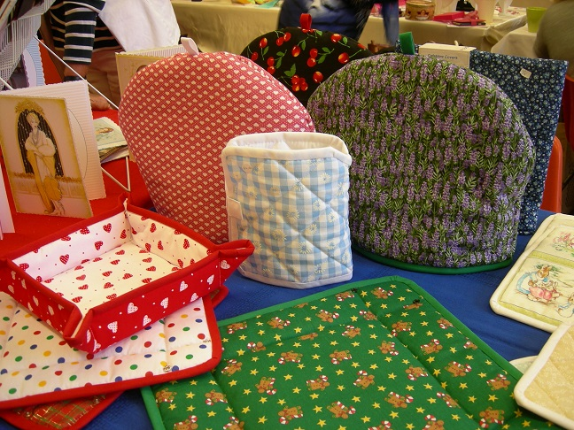 Tea cosies + fabric bread baskets